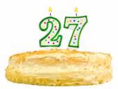 Birthday cake candles number twenty seven isolated — Stock Photo
