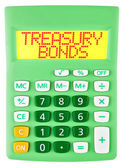 Calculator with TREASURY BONDS on display isolated — Stok fotoğraf