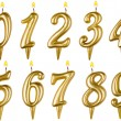 Birthday candles number set isolated on white — Stock Photo #56608533