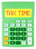 Calculator with TAX SERVICES on display isolated — Стоковое фото