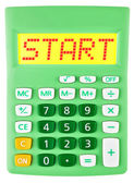 Calculator with START on display isolated — Stockfoto