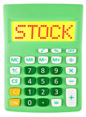 Calculator with STOCK on display isolated — Foto Stock
