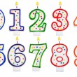 Birthday candles number set isolated on white — Stock Photo #57070151