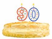 Birthday cake candles number ninety isolated — Stock Photo