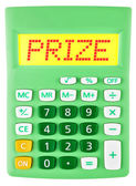 Calculator with PRIZE on display — Foto de Stock