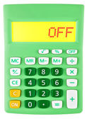 Calculator with OFF on display — Stock Photo