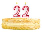 Birthday cake candles number twenty two isolated — Stock Photo