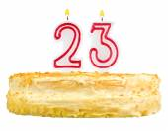 Birthday cake candles number twenty three isolated — Stock Photo