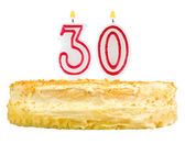 Birthday cake candles number thirty isolated — Stock Photo