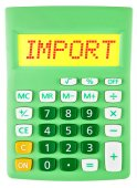 Calculator with Import on display isolated — Stock Photo