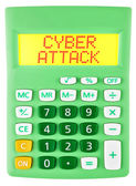 Calculator with CYBER ATTACK on display isolated — Stockfoto