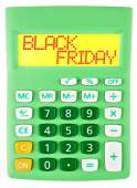 Calculator with BLACK FRIDAY on display — Stock Photo