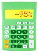 Calculator with -95 on display — Stock Photo