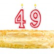 Birthday cake with candles number forty nine — Stock Photo #60506185
