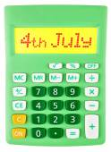Calculator with 4th july on display — Stock Photo