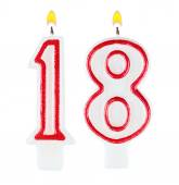 Birthday candles number eighteen isolated — Stock Photo