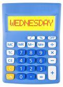 Calculator with WEDNESDAY — Stock Photo