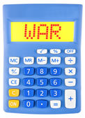 Calculator with WAR on display — Stock Photo