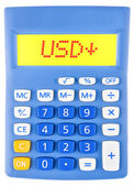 Calculator with USD on display — Stock Photo