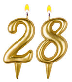 Birthday candles number twenty eight — Stock Photo