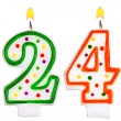 Birthday candles number twenty four — Stok fotoğraf #61181405