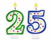 Birthday candles number twenty five — Stock Photo