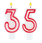 Birthday candles number thirty five — Stock fotografie