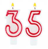 Birthday candles number thirty five — Foto de Stock