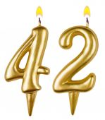 Birthday candles number forty two — Stockfoto