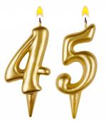 Birthday candles number forty five — Foto de Stock