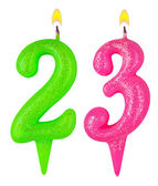 Birthday candles number twenty three — Stock fotografie