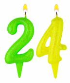 Birthday candles number twenty four isolated — Stock Photo