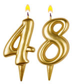 Birthday candles number forty eight — Stockfoto