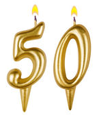 Birthday candles number fifty — Stockfoto