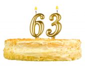 Birthday cake with candles number sixty three — Foto de Stock