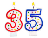 Birthday candles number thirty five — Stock Photo
