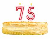 Birthday cake with candles number seventy five — Foto de Stock