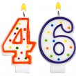 Birthday candles number forty six — Stock Photo #61378823