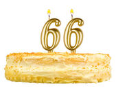 Birthday cake with candles number sixty six — Foto de Stock