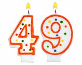 Birthday candles number forty nine — Stock Photo