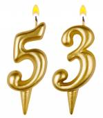 Birthday candles number fifty three — Stock fotografie
