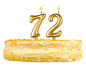 Birthday cake with candles number seventy two — Foto de Stock