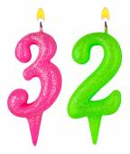 Birthday candles number thirty two — Foto de Stock