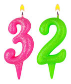 Birthday candles number thirty two — Stockfoto