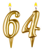 Birthday candles number sixty four — Stockfoto