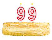 Birthday cake with candles number ninety nine — Stok fotoğraf