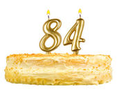 Birthday cake with candles number eighty four — Stok fotoğraf