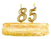 Birthday cake with candles number eighty five — Stok fotoğraf