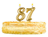 Birthday cake with candles number eighty seven — Stok fotoğraf