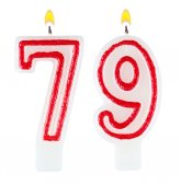 Birthday candles number seventy nine — Stock Photo